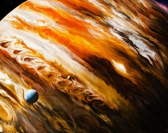 Jupiter Space Art Canvas Print, By CrownosArts
