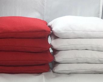 Cornhole Bags Set of 8 (chose your colors)