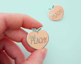 PRE-ORDER just peachy peach HARD enamel pin | Lapel pin | Cute fruity pink