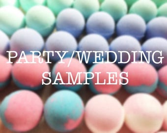 Bath Bomb Samples, Wedding Favor, Baby Shower Favors, Party Favors, Bath Fizzy, Sample Pack, Birthday Gift, Bridesmaids Gifts, Handmade