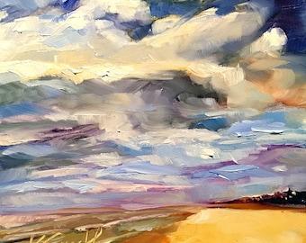 beach dreaming' // beach landscape // beach painting // beach art // ocean landscape // ocean landscape painting // original art