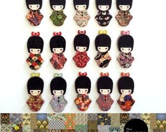 Kimono Girl Fridge Magnet Set