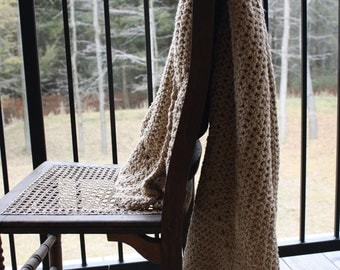 Crochet blanket-super soft blanket-cottage decor-modern afghan-cottage blanket