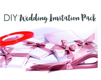 DIY Wedding Invitation Pack / Wedding Invitations