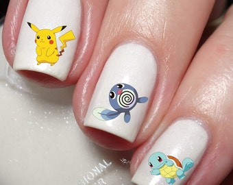 Pokemon Go Characters Nail Art Sticker Water Transfer Decal 84
