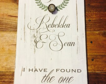 Rustic Wedding/Anniversary Wood Sign; Song of Solomon