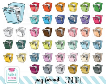 43 Doodle Dishwasher clipart. Personal and comercial use.