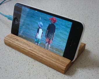 iPhone stand  Solid Tasmanian Oak timber Universal size hand made
