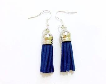 Blue Tassel Earrings ~ Black Tassel Earrings ~ Dangle Earrings ~ Friend Gift ~ Mother Gift ~ Boho Chic Earrings ~ On Trend Gift ~ Mom Gift