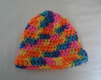 Rainbow hat with brim