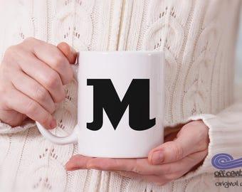 Monogram Coffee Mug, Custom Coffee Mug, Monogrammed gift, Personalized Coffee Mug, Custom Gift, Custom Wedding Gift, Personalized Gift