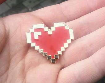 Pixel Heart Hard Enamel Pin
