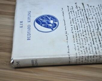 Vintage Kipling Book. Kim by Rudyard Kipling. Vintage Book 1935. Hardcover with dust cover.