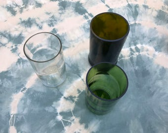 Pint glass from upcycled wine bottle | drinking glass