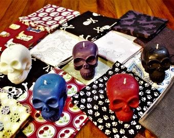 NEW 5x Monkey Skulls BDSM Wax Play Dripping Splashing Candles by Red Rigger with bonus small furoshiki/wrapping cloth