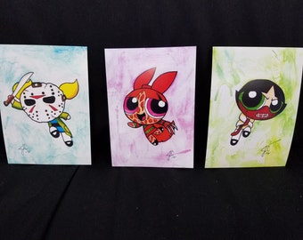 Power Puff Girls Horror SET OF 3