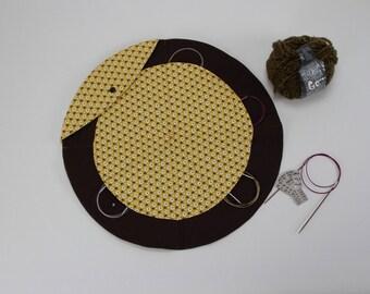 Knitting needle bag needle, circular knitting needles, needle-Organizer, it's round, knitting needle case circular needles