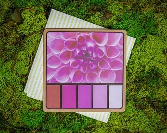 Dhalia Spring Palette greeting card