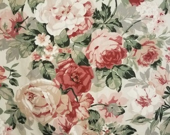 Pretty floral/rose curtains/curtain panels shabby/cottage chic/french country/nursery with matching tie backs