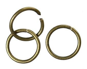 1000 Jump Rings, 8mm High Quality Bronze Tone (1U-174)