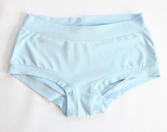 Organic Underwear Set, Gift for Her - Organic Lingerie - Boyshort Briefs - Women's Boyshort Underwear - Pastel Lingerie Set - Soft Panty Set