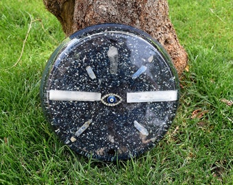 Large Powerful Blue Orgone Charging Plate