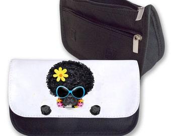 Afro Hair Dog Pencil case / Make up bag