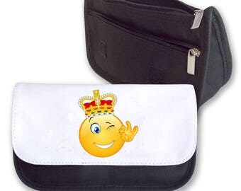 Emoji KING  pencil case / Make-up bag