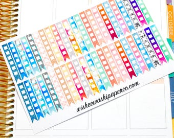 Patterned To Do Checklist Stickers - To Do Checklist Flags - Checklist Stickers - Planner Stickers