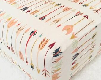 Tribal Arrows Crib Sheet // Tribal Crib Sheet // Tribal Nursery Bedding // Tribal Bedding // Woodland Nursery Bedding // Arrows Crib Sheet