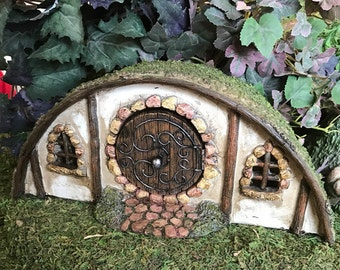 Miniature Fairy Hobbit House with Moss Roof