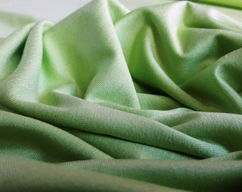 Lime Green Viscose Jersey Knit Fabric - UK Seller