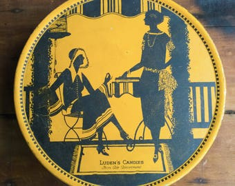 Large Art Deco Ludens Candy Tin