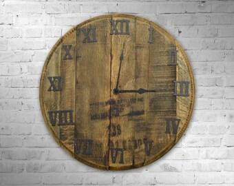 Bourbon Barrel Clock