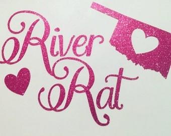 Decal for yeti cups or favorite mug - River Rat