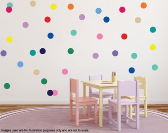 1 Inch Polka Dots Stickers, Polka Dot Circle Wall Decals/Wall Stickers, Decoration Polka Dots, Wall decor, Home decor, nursery decal