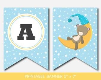 Teddy banner, Bear banner, Teddy baby shower banner, Baby bear banner, Teddy bear bunting, Bear garland, Teddy pennant, BB4-19