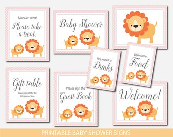 Safari table signs, Lion table signs, Jungle table signs, Safari baby shower table signs, Lion baby shower table signs, Safari signs, BS2-07