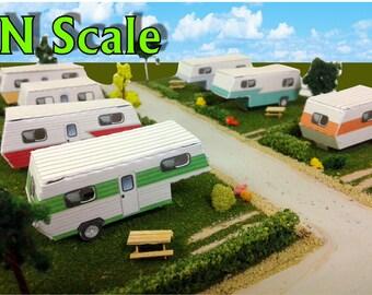 Paper Model Mobile Home Trailer Park Camper Homes Card Stock Kits