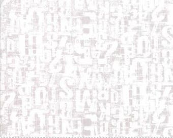 Compositions NUMBERS JUMBLE FOG by Basicgrey from Moda - 1/2 yard