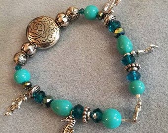 Blue under the sea inspired bracelet