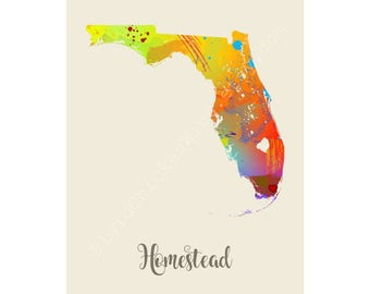 Homestead Florida Homestead Map Homestead Print Homestead Poster Homestead Art Homestead Gift Homestead Wall Decor