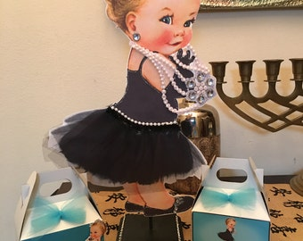 1  breakfast at Tiffany's baby girl centerpiece