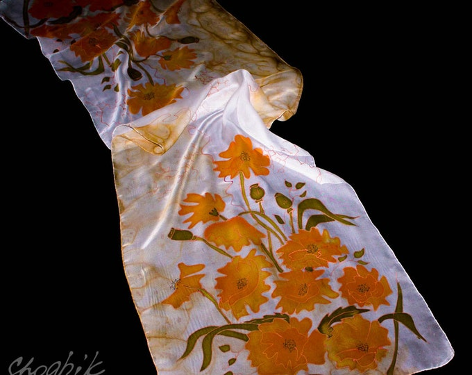 Hand Painted Women's Scarf