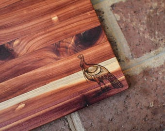 Custom Handmade, Wood Burned Cedar Cutting Board
