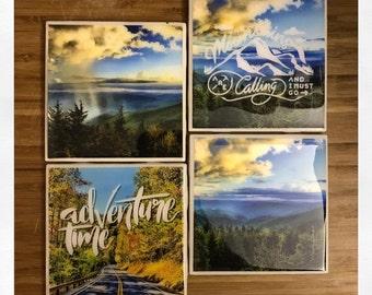 Great Smoky Mountains National Park Photo Coaster Set
