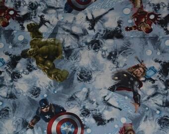 "MARVEL AVENGER SKETCH   Art  100% cotton fabric 15"" x 42"""