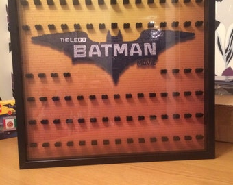 Large Lego Batman Movie Minifigures Display Frame
