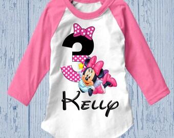 Minnie Mouse Birthday Shirt - Minnie Birthday Shirt - Tank Top Available