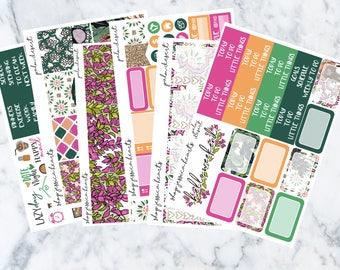 Palm Desert Weekly Sticker Kit / Fits Erin Condren Vertical Life Planner